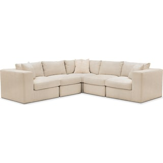 Collin 5 Pc. Sectional - Comfort in Victory Ivory