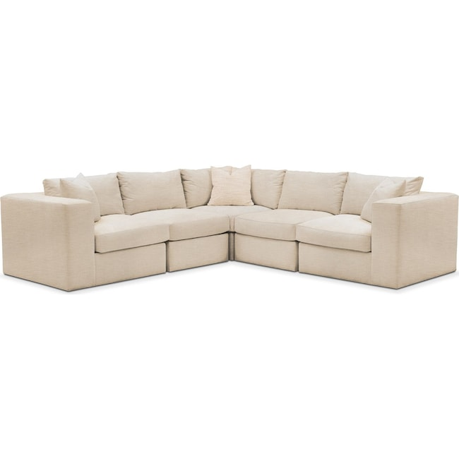 Living Room Furniture - Collin 5 Pc. Sectional - Comfort in Victory Ivory