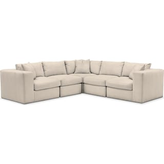 Collin 5 Pc. Sectional - Comfort in Curious Pearl