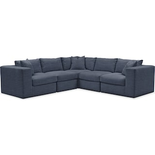 Collin 5 Pc. Sectional - Comfort in Curious Eclipse
