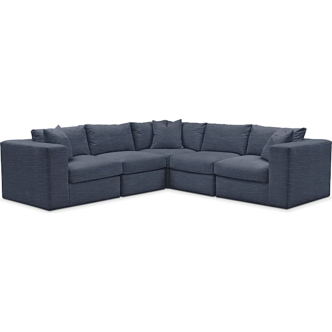 Living Room Furniture - Collin 5 Pc. Sectional - Comfort in Curious Eclipse