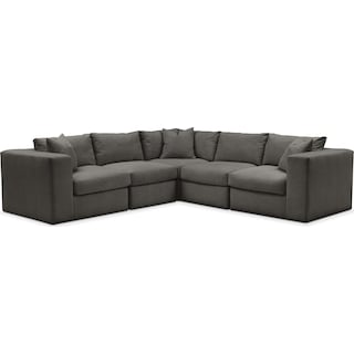 Collin 5 Pc. Sectional - Comfort in Statley L Sterling