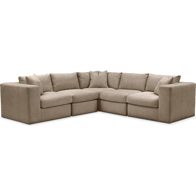 Living Room Furniture - Collin 5 Pc. Sectional - Comfort in Statley L Mondo