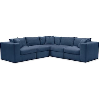 Collin 5 Pc. Sectional - Comfort in Hugo Indigo