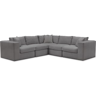Collin 5 Pc. Sectional - Comfort in Hugo Graphite