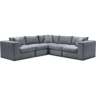 Collin 5 Pc. Sectional - Comfort in Dudley Indigo