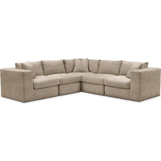 Collin 5 Pc. Sectional - Comfort in Dudley Burlap