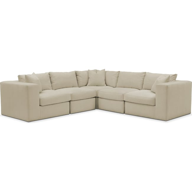 Living Room Furniture - Collin 5 Pc. Sectional - Comfort in Abington TW Barley