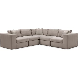 Collin 5 Pc. Sectional - Comfort in Abington TW Fog