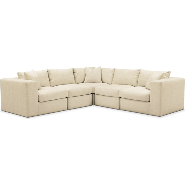 Living Room Furniture - Collin 5-Piece Sectional - Comfort in Anders Cloud