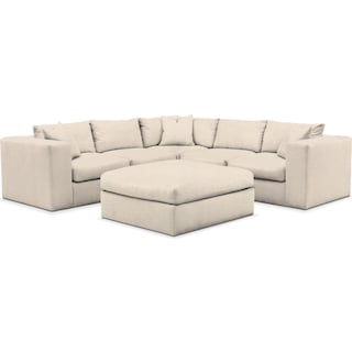 Collin 6 Pc. Sectional- Comfort in Curious Pearl