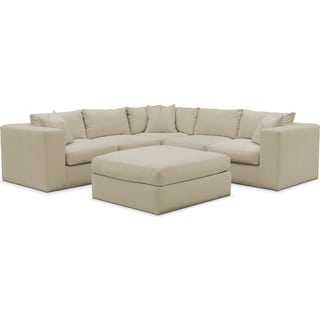 Collin 6 Pc. Sectional- Comfort in Abington TW Barley