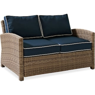 Destin Outdoor Loveseat - Blue