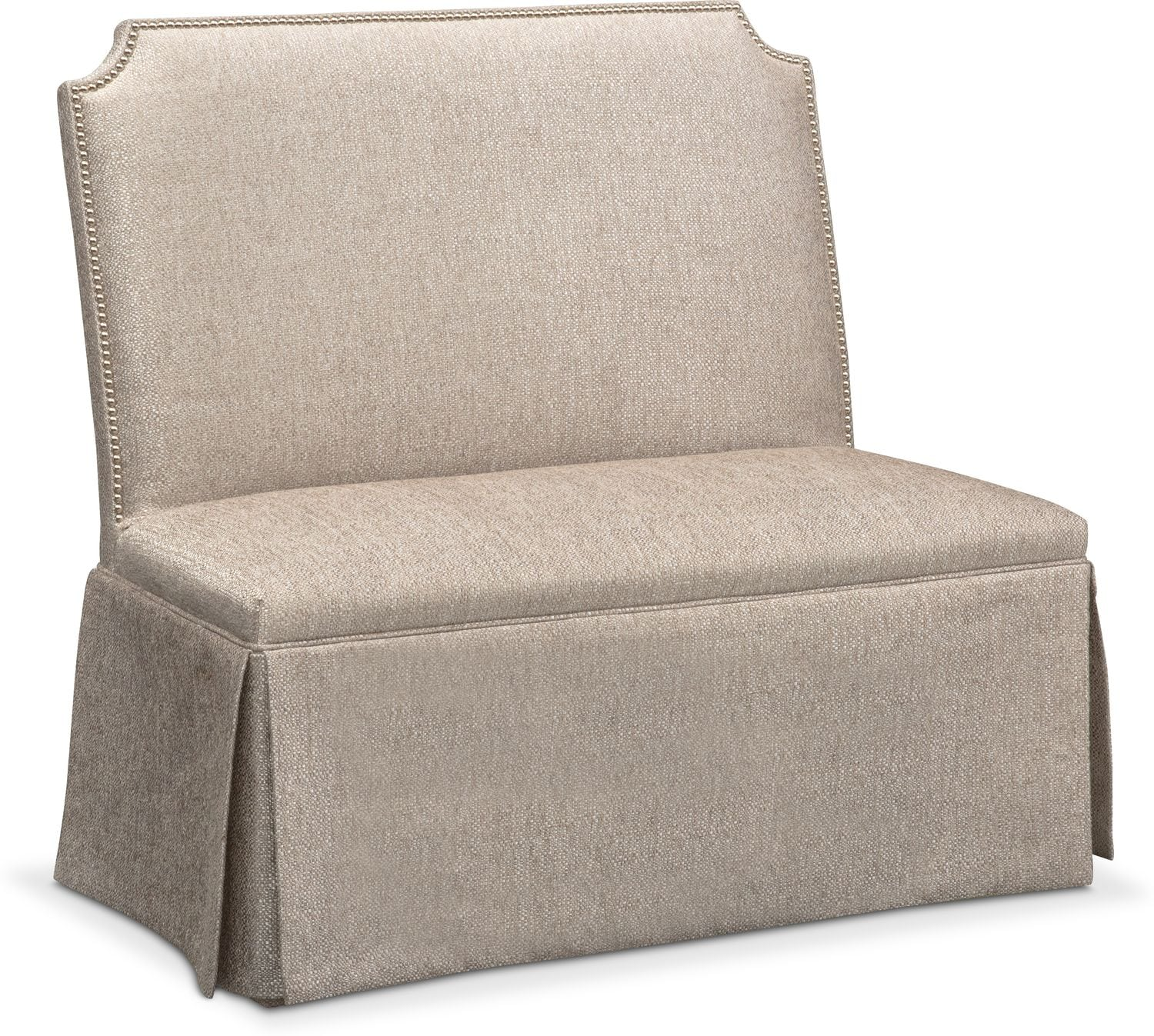 Accent and Occasional Furniture - Gabriella Settee - Gray