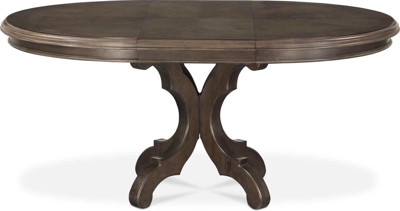 Charleston Round Dining Table Gray American Signature