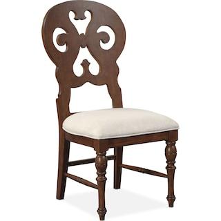 Charleston Scroll-Back Side Chair - Tobacco