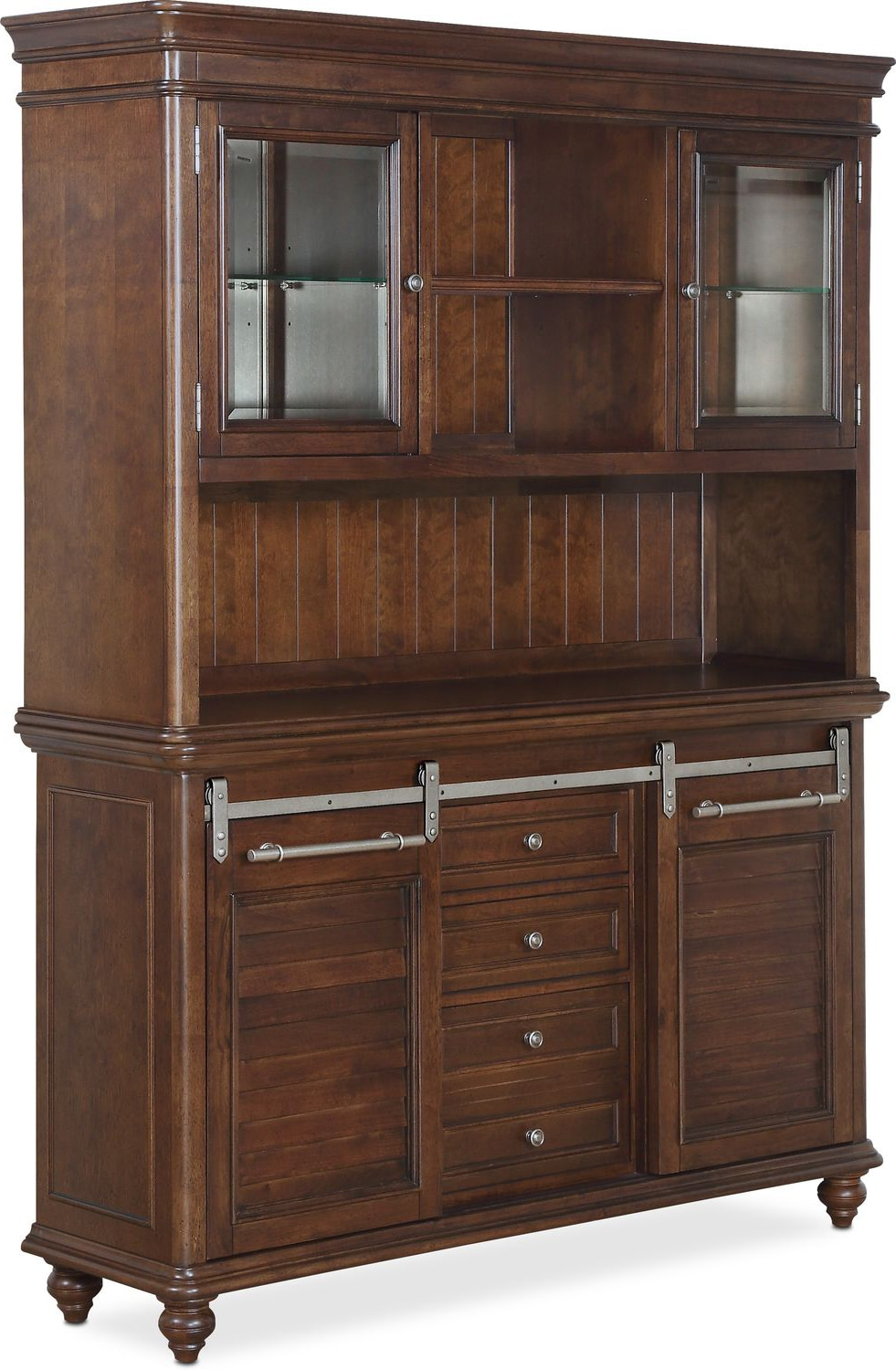 Dining Room Furniture   Charleston Buffet And Hutch   Tobacco