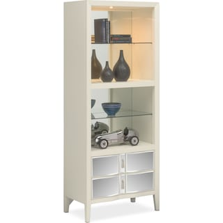 Bellagio Pier with Shelving - White