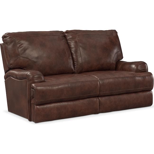 Living Room Furniture - Kingsway Loveseat - Brown