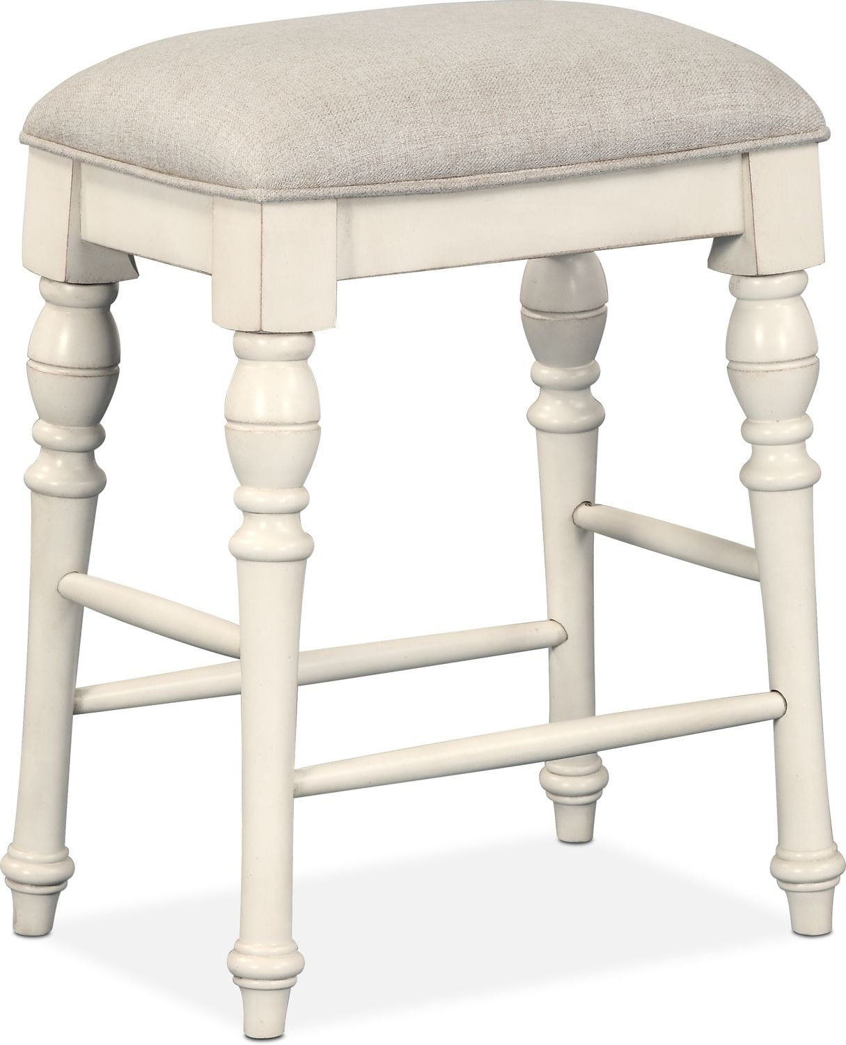 charleston counter height backless stool white american signature furniture. Black Bedroom Furniture Sets. Home Design Ideas