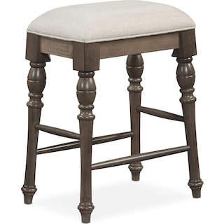 Charleston Counter Height Backless Stool Gray