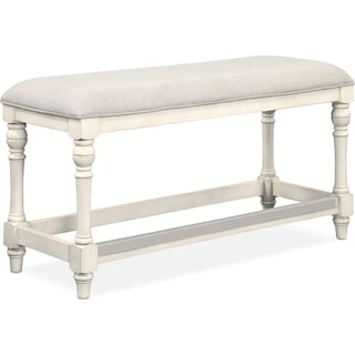 Charleston Counter-Height Bench - White