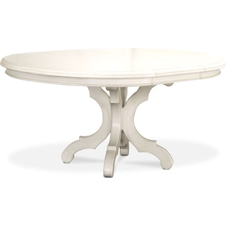 Charleston Round Dining Table - White