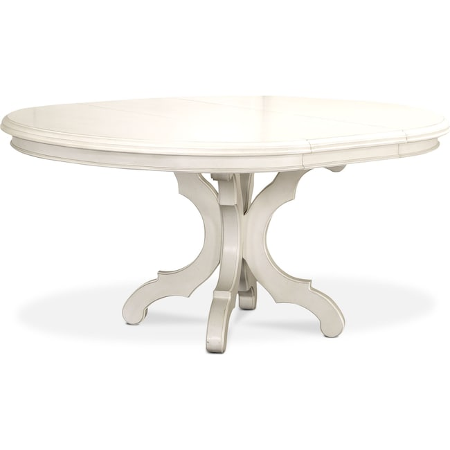 Dining Room Furniture - Charleston Round Dining Table - White