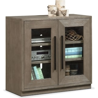 Malibu 2-Door Cabinet - Gray