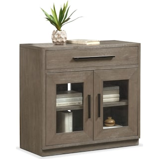Malibu Drop-Drawer Cabinet - Gray