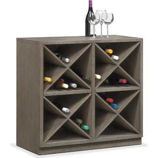 Malibu Wine Cabinet - Gray
