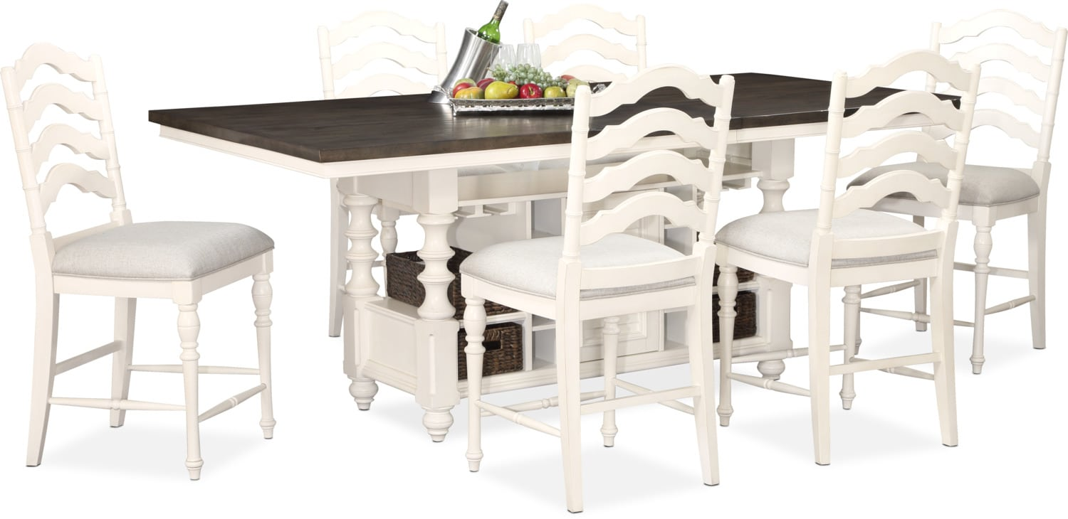 Charleston Counter Height Dining Table And 6 Stools