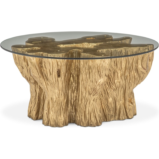 Accent and Occasional Furniture - Natura Coffee Table - Gold