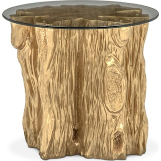 Natura End Table - Gold