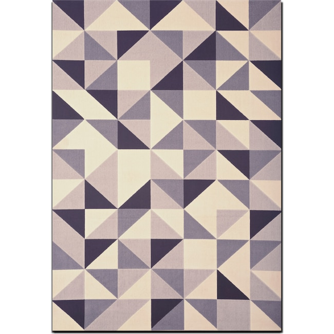 Rugs - Broadway 5' x 8' Area Rug - Gray, Ivory and Black