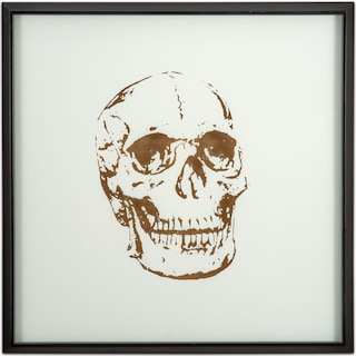 Skull Framed Print - Gold