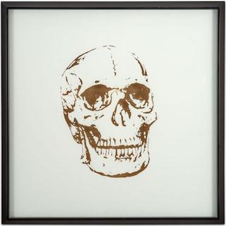 Skull Framed Print - Gold