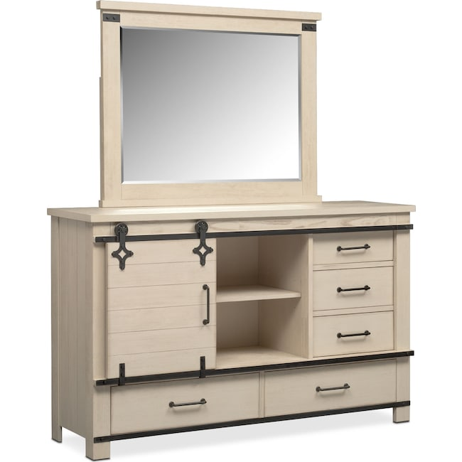 Bedroom Furniture - Founders Mill Dresser and Mirror