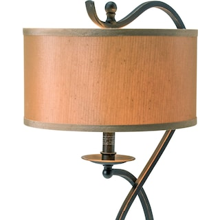 Curved Bronze Table Lamp