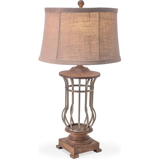 Antique Cage Table Lamp