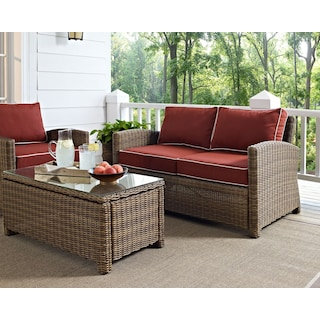 Destin Outdoor Loveseat - Sangria