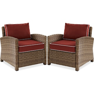Destin Set of 2 Outdoor Chairs
