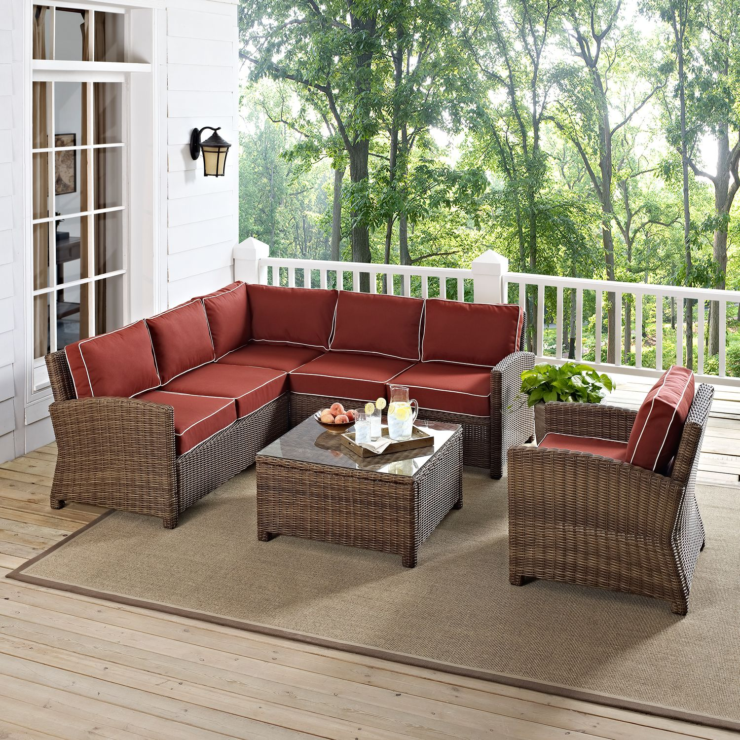 Patio Furniture Repair Destin Fl: Destin 3-Piece Outdoor Sectional, Chair And Cocktail Table