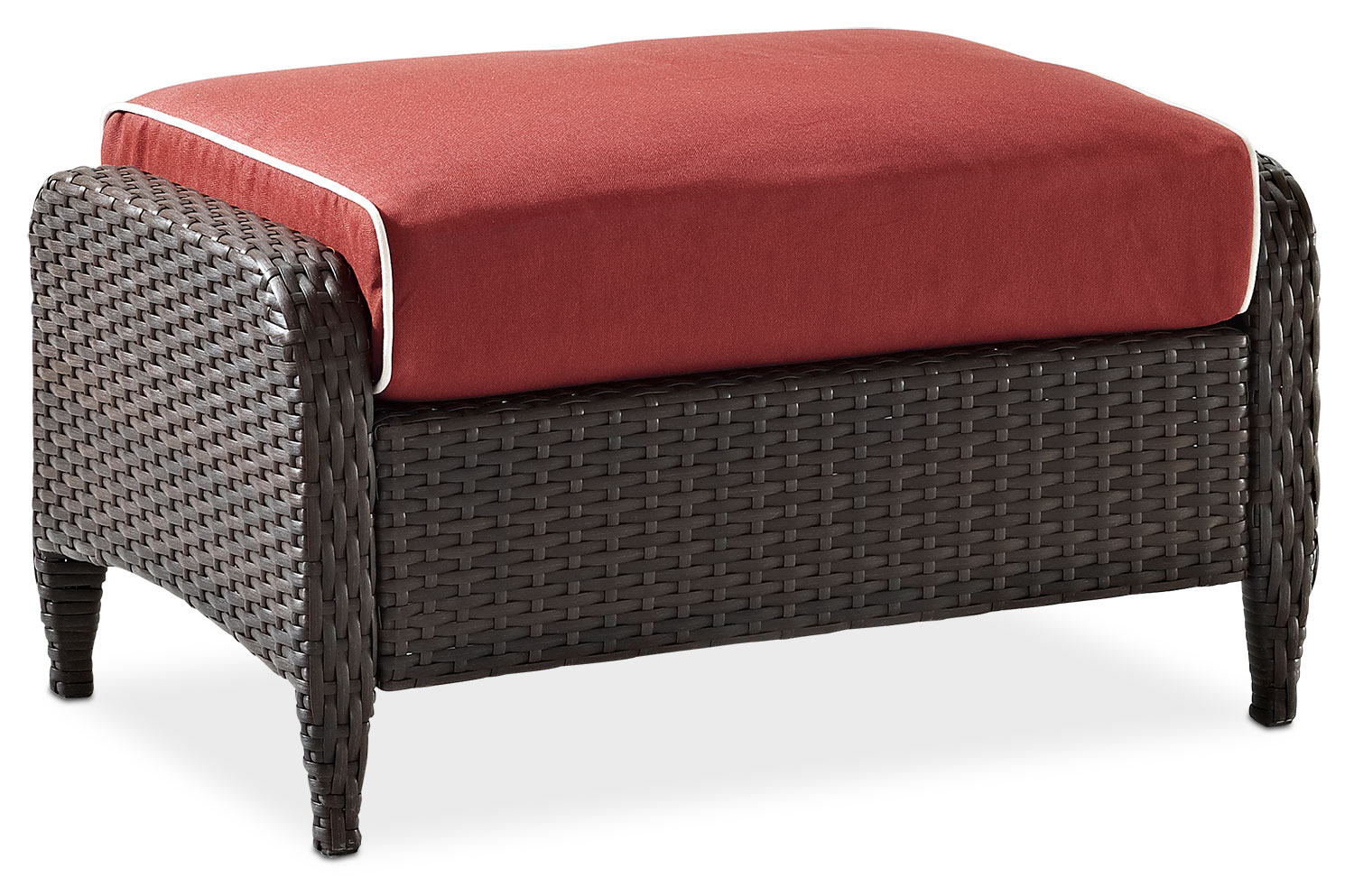 Accent and Occasional Furniture - Corona Outdoor Ottoman - Sangria