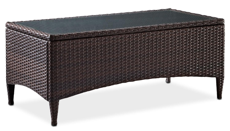 Outdoor Furniture - Corona Outdoor Coffee Table - Brown
