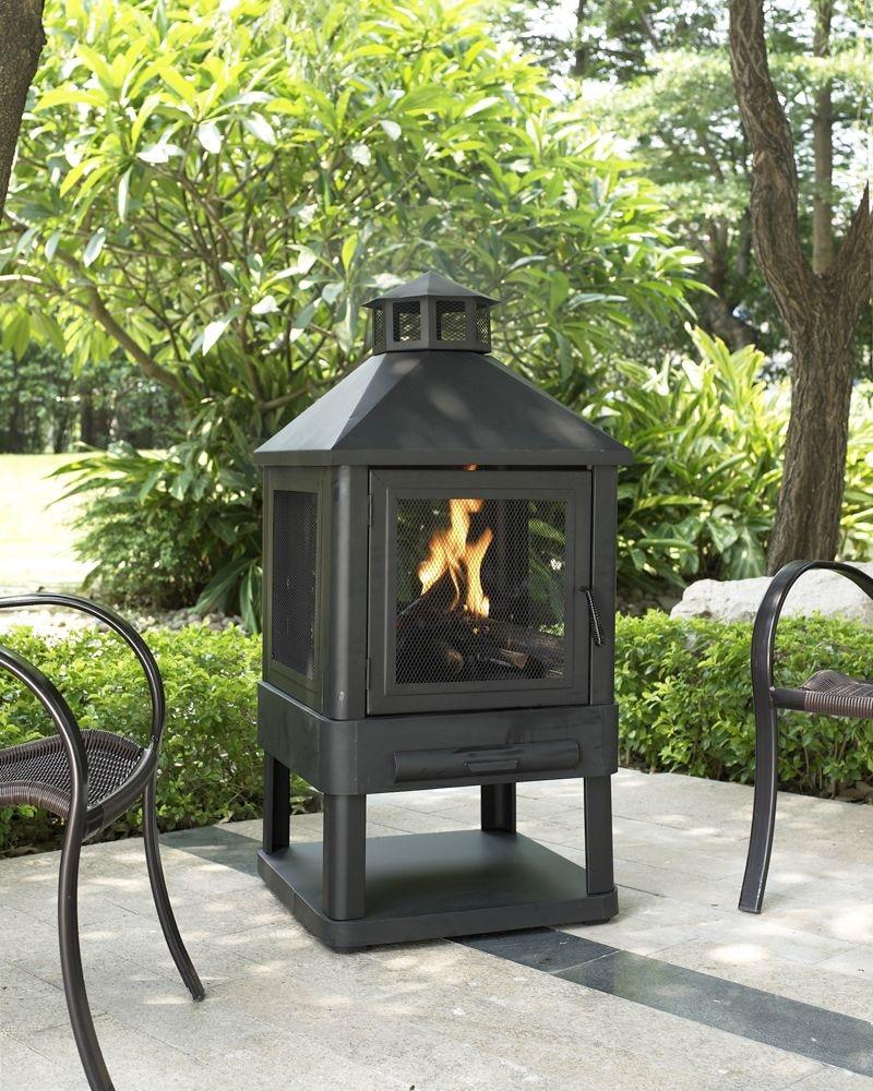 Outdoor Furniture - Atlas Fire Pit - Black
