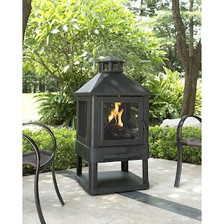Atlas Fire Pit - Black