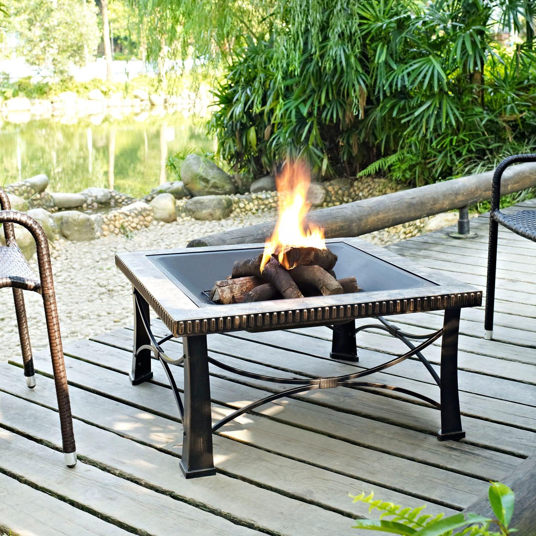 Outdoor Furniture - Branson Fire Pit - Black
