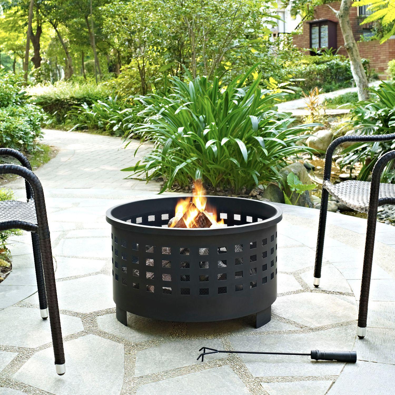Calvin Fire Pit - Black | Tuggl
