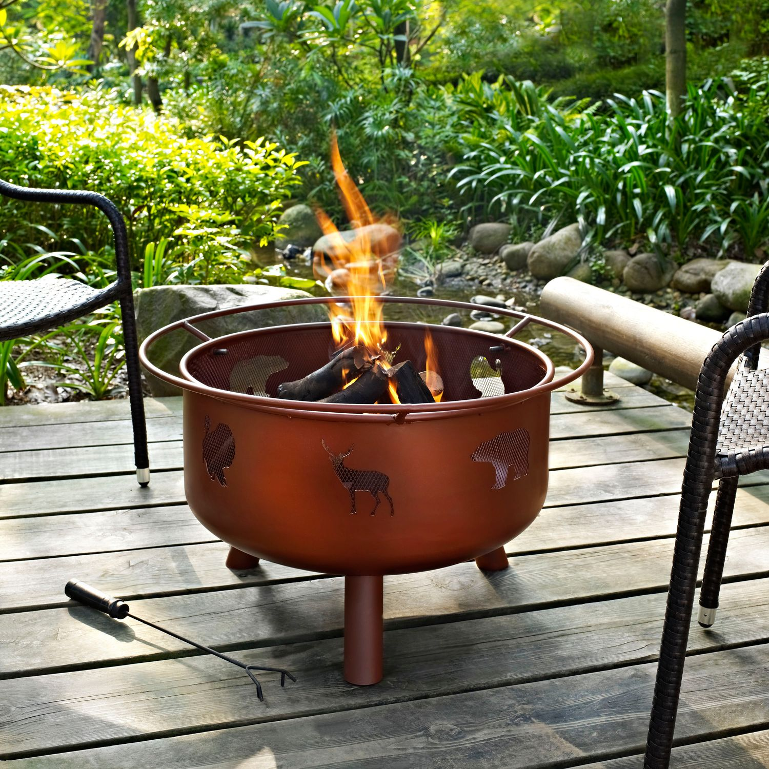 Outdoor Furniture - Woodbury Fire Pit - Rust